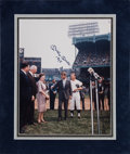 Baseball Collectibles:Photos, 1990's Mickey Mantle Signed Large Photograph....