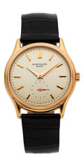 Timepieces:Wristwatch, Patek Philippe Calatrava 18k Rose Gold Wristwatch Ref. 3923 . ...