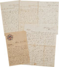 Militaria:Ephemera, Union Officer's Letter by William J. Ross of the 29th Connecticut(Colored) Volunteers Describing the Repulsion of the Rebels ...