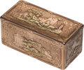 Silver Smalls:Snuff Boxes, A Les Freres Toussaint German Vari-Color 18K Gold Snuff Box, Hanau,Germany, circa 1780. Marks: LFT (crowned), (portcull...