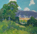 Fine Art - Painting, American:Contemporary   (1950 to present)  , Peter Lanz Hohnstedt (American, 1872-1957). SummerLandscape. Oil on board. 14-3/4 x 16 inches (37.5 x 40.6 cm).Signed ...
