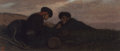 Fine Art - Painting, American:Antique  (Pre 1900), Elihu Vedder (American, 1836-1923). Spanish Wine Smugglers,circa 1860. Oil on canvas. 9 x 21 inches (22.9 x 53.3 cm). S...