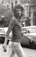 Photographs:Gelatin Silver, Ron Galella (American, b. 1931). Windblown Jackie, 1971. Gelatin silver, printed later. 39-3/4 x 25-1/4 inches (100.8 x ...