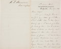 Autographs:Military Figures, [Ulysses S. Grant]. William T. Sherman Autograph Letter Signed....