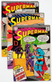 Superman Group of 9 (DC, 1966-69) Condition: Average FN.... (Total: 9 Comic Books)