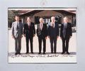 Autographs:U.S. Presidents, Five Presidents Signed Photograph in Presentation Frame....