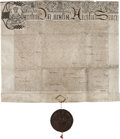 Miscellaneous, [Charles I]. Letters Patent to William Trumbull with Full Seal....