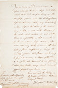 """Autographs:Military Figures, Horatio Nelson Letter Signed, """"Nelson & Bronte,""""..."""