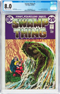 Bronze Age (1970-1979):Horror, Swamp Thing #1 (DC, 1972) CGC VF 8.0 Off-white to white pages....