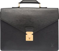 Louis Vuitton Black Epi Leather Conseiller Ambassadeur Briefcase Bag Good to Very Good Condition