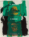 Prints, Robert Motherwell (1915-1991). St. Michael III, 1979. Screenprint and lithograph in colors on wove paper. 40-1/2 x 32 in...