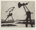 Prints:Contemporary, William Kentridge (b. 1955). Zeno Writing (Ponytail), 2002.Photogravure etching and drypoint on wove paper. 8-1/4 x 10-...