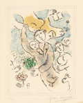 Prints:European Modern, Marc Chagall (1887-1985). L'artiste I, 1978. Lithograph incolors on wove paper. 13-1/2 x 10-1/2 inches (34.3 x 26.7 cm)...