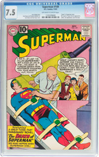 Superman #149 (DC, 1961) CGC VF- 7.5 Off-white to white pages