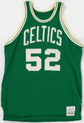 Basketball Collectibles:Uniforms, Late 1970's Earl Williams Game Worn Boston Celtics Jersey....