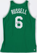 Baseball Collectibles:Uniforms, Bill Russell Signed Boston Celtics Jersey....
