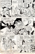 Original Comic Art:Panel Pages, George Perez and Bret Breeding Justice League of America#200 Story Page 13 Original Art (DC, 1982)....