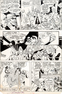 George Perez and Bret Breeding Justice League of America #200 Story Page 13 Original Art (DC, 1982)