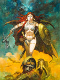 Original Comic Art:Paintings, Sanjulian (Manuel Perez Clemente) Red Sonja Painting Original Art (undated)....
