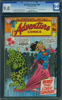 Adventure Comics #386 - BRAD SQUARED COLLECTION (DC, 1969) CGC VF/NM 9.0 Off-white to white pages