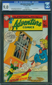 Adventure Comics #387 - BRAD SQUARED COLLECTION (DC, 1969) CGC VF/NM 9.0 White pages