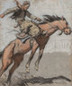 Maynard Dixon (American, 1875-1946) Bronco Buster, 1920 Pastel on paper laid on board 25-1/2 x 21 inches (64.8 x 53.3