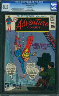 Adventure Comics #391 (DC, 1970) CGC VF+ 8.5 White pages
