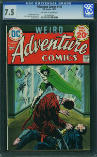 Adventure Comics #434 (DC, 1974) CGC VF- 7.5 Off-white to white pages