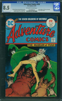 Adventure Comics #438 (DC, 1975) CGC VF+ 8.5 Off-white to white pages