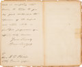 Autographs:U.S. Presidents, Grover Cleveland Autograph Letter Signed as President....