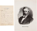 Autographs:U.S. Presidents, Rutherford B. Hayes Autograph Letter Signed as President. ...(Total: 2 )