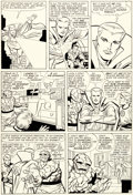 Original Comic Art:Panel Pages, Jack Kirby and George Roussos (as George Bell) FantasticFour #27 Story Page 9 Doctor Strange Original Art (Marvel...