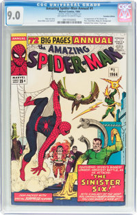 The Amazing Spider-Man Annual #1 Canadian Edition (Marvel, 1964) CGC VF/NM 9.0 Off-white to white pages