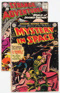 Golden Age (1938-1955):Science Fiction, Mystery in Space #3/Strange Adventures #104 Group (DC, 1951-59)....(Total: 2 Comic Books)