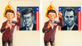 Original Comic Art:Covers, Bob Clarke MAD Magazine #60 Cover Paintings Original ArtGroup of 2 (EC, 1961).... (Total: 2 Original Art)