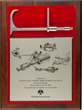 Explorers:Space Exploration, Skylab I (SL-2) Repair Tool Replica on Rockwell Presentation Plaque Directly from the Personal Collection of Mission Pilot Pau...