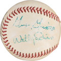 Autographs:Celebrities, Mercury Seven Astronauts: Baseball Signed by Four including Shepardand Grissom. ...