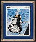 Autographs:Celebrities, NASA Female Astronauts: Photo Signed by Seven, in Framed Display....
