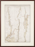 Miscellaneous:Maps, Claude Joseph Sauthier. A Topographical Map of Hudsons River,with the Channels Depth of Water, Rocks, Shoals, &c....