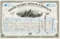 Miscellaneous:Ephemera, Homestake Mining Company Autographed Stock Signed by Lloyd Tevis...