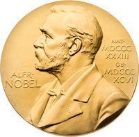 Georg Wittig Nobel Prize Medal in Chemistry Received in 1979, Together with Four Additional Medals
