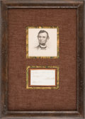 Autographs:U.S. Presidents, Abraham Lincoln Signature on a Clipped Partial Endorsement....