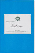 Autographs:U.S. Presidents, Richard Nixon Book Signed. Seize the Moment....