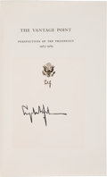 Autographs:U.S. Presidents, Lyndon Baines Johnson Book Signed. The Vantage Point:Perspectives of the Presidency 1963-1969....