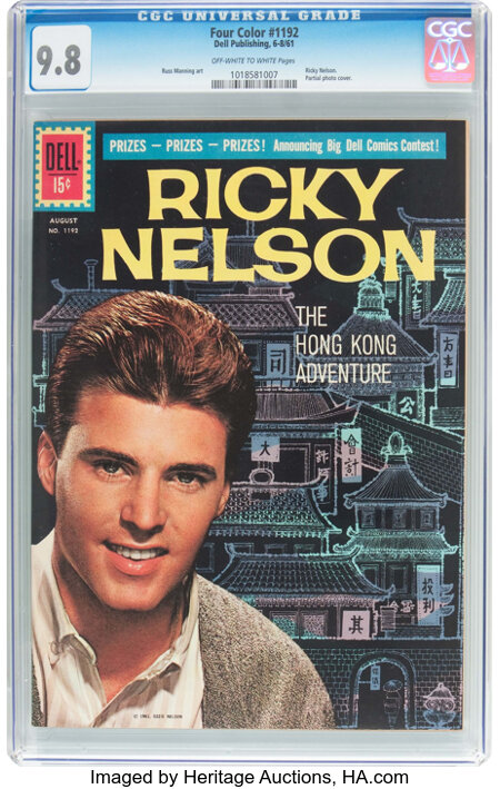 Four Color #1192 Ricky Nelson (Dell, 1961) CGC NM/MT 9.8 Off-white to white pages....