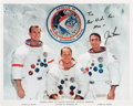 Autographs:Celebrities, Jim Irwin Signed Apollo 15 Crew Color Photo....