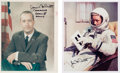 """Autographs:Celebrities, Jim McDivitt Signed Gemini-Era Color Photos (Two), One an Original NASA """"Red Number"""" Example. ... (Total: 2 Items)"""