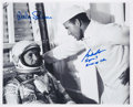 Autographs:Celebrities, Wally Schirra and Gordon Cooper Signed Sigma 7 Photo. ...