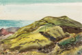 Fine Art - Painting, American:Modern  (1900 1949)  , Peter Hurd (American, 1904-1984). Ascension Island (twoworks), 1944. Watercolor on paper, each. 5-1/4 x 8-1/2 inches (1...(Total: 2 Items)