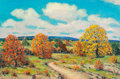 Fine Art - Painting, American:Contemporary   (1950 to present)  , Dwight Clay Holmes (American, 1900-1986). Autumn, Hill Countryof Texas, 1982. Oil on canvas laid on panel. 24 x 36 inch...
